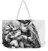 Study For A Madonna With A Cat Weekender Tote Bag