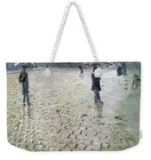 Study For A Paris Street Rainy Day Weekender Tote Bag by Gustave Caillebotte