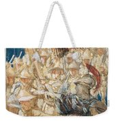 Study For The Coming Of The Americans , John Singer Sargent Weekender Tote Bag