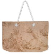 Study For The Figure Of Diogenes In The School Of Athens Weekender Tote Bag