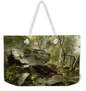 Study From Nature   Rocks And Trees Weekender Tote Bag