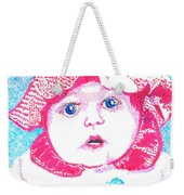 Study In Blue And Pink Weekender Tote Bag