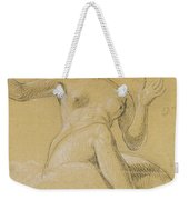 Study Of A Female Figure Seated On Clouds Weekender Tote Bag