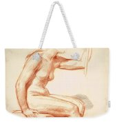 Study Of A Female Nude Seated Weekender Tote Bag