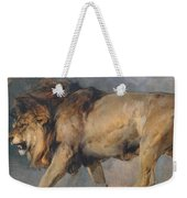 Study Of A Lion Weekender Tote Bag