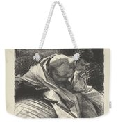 Study Of A Young Man, Seated ,john Singer Sargent Weekender Tote Bag