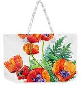 Study Of Poppies Weekender Tote Bag