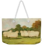 Study Of Sheep In A Landscape   Weekender Tote Bag