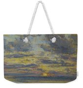 Study Of The Sky With Setting Sun Weekender Tote Bag