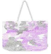 Study Purple And Gray Weekender Tote Bag
