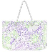 Study Purple And Green Weekender Tote Bag