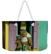 Stuffed Bear Chained To A Door Weekender Tote Bag