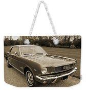 Stunning '66 Mustang In Sepia Weekender Tote Bag