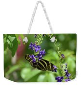 Stunning Black And White Zebra Butterfly In The Spring Weekender Tote Bag