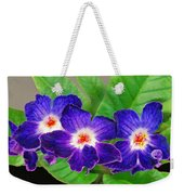 Stunning Blue Flowers Weekender Tote Bag