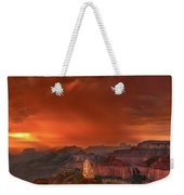 Stunning Red Storm Clouds Over The North Rim Grand Canyon Arizona Weekender Tote Bag