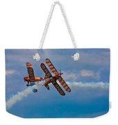 Stunt Biplanes With Wingwalkers Weekender Tote Bag