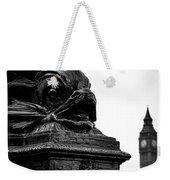 Sturgeon Lamp Post With Big Ben London Black And White Weekender Tote Bag