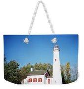 Sturgeon Point Lighthouse, Michigan - Horizontal Weekender Tote Bag