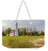 Sturgeon Point Ligthouse Lake Huron, Lower Peninsula, Mi Weekender Tote Bag