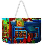 St.viateur Bagel And Hockey Kids Weekender Tote Bag