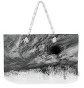 Stylized Monochrome Landscape Of A Storm Weekender Tote Bag