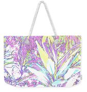 Subtle Leaf Weekender Tote Bag