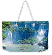 Subtropical Vegetation Surrounds Waterfalls In Iguazu Falls National Park-brazil Weekender Tote Bag