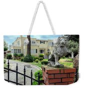 Suburban Antique House With Lion Hayward California 22 Weekender Tote Bag