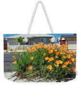 Suburban House On Orchard Avenue With Poppies Hayward California 3 Weekender Tote Bag