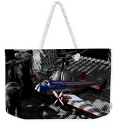 Suburban Safari  The Zebra Strikes Back Weekender Tote Bag