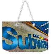 Subway Entrance Weekender Tote Bag