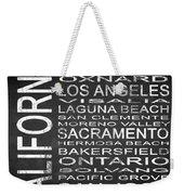 Subway California State 2 Square Weekender Tote Bag