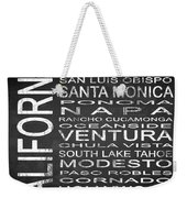 Subway California State 5 Square Weekender Tote Bag