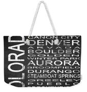 Subway Colorado State Square Weekender Tote Bag