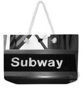 Subway Weekender Tote Bag