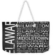 Subway Delaware State Square Weekender Tote Bag