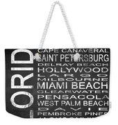 Subway Florida State Square Weekender Tote Bag