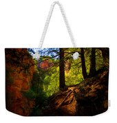Subway Forest Weekender Tote Bag