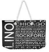 Subway Illinois State Square Weekender Tote Bag