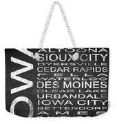 Subway Iowa State Square Weekender Tote Bag