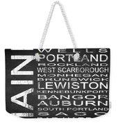 Subway Maine State Square Weekender Tote Bag