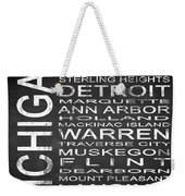 Subway Michigan State Square Weekender Tote Bag