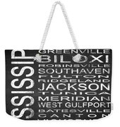 Subway Mississippi State Square Weekender Tote Bag