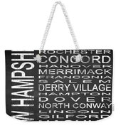 Subway New Hampshire State Square Weekender Tote Bag