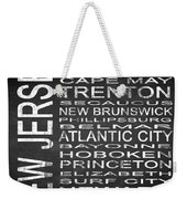 Subway New Jersey State Square Weekender Tote Bag