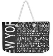 Subway New York State 2 Square Weekender Tote Bag