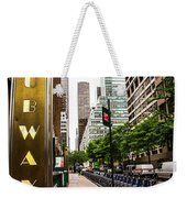 Subway Nyc Weekender Tote Bag