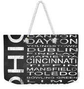 Subway Ohio State Square Weekender Tote Bag