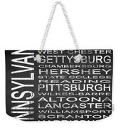 Subway Pennsylvania State Square Weekender Tote Bag